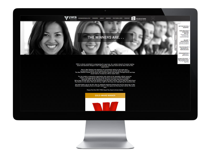 YWCA Pay Equity Website Design screen grab